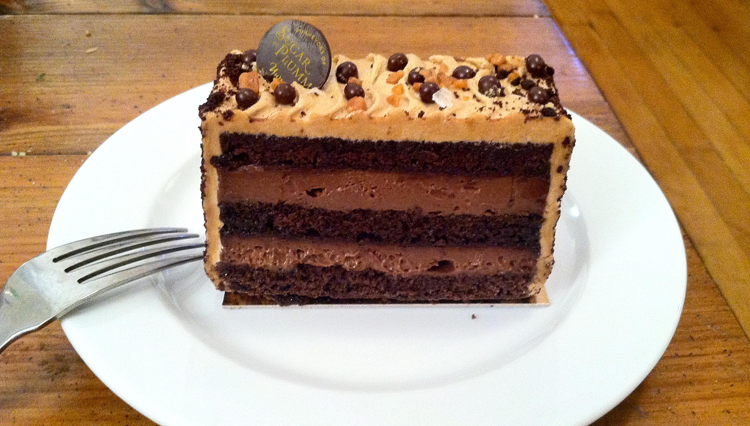 Chocolate Caramel Cake at Sugar and Plumm | The Dough-Eyed Girl
